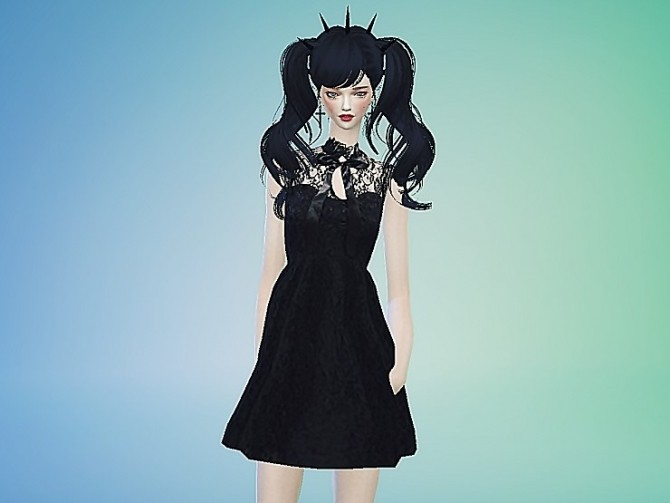 Ribbon lace black dress at Marigold image 1110 670x503 Sims 4 Updates