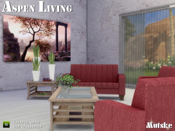 Sims 4 Aspen Livingroom by mutske at TSR