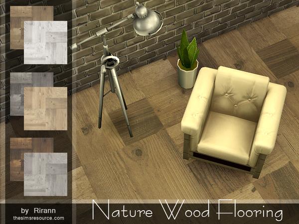 Sims 4 Nature Wood Flooring by Rirann at TSR