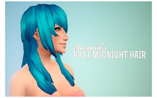 Sims 4 Past Midnight AF Hair at Chisami