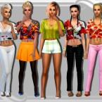 453acc784d06fe T-Shirt with Bralette 02 by Black Lily at TSR » Sims 4 Updates