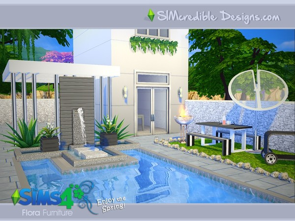 Flora outdoor furniture by SIMcredible! at TSR image 11128 Sims 4 Updates