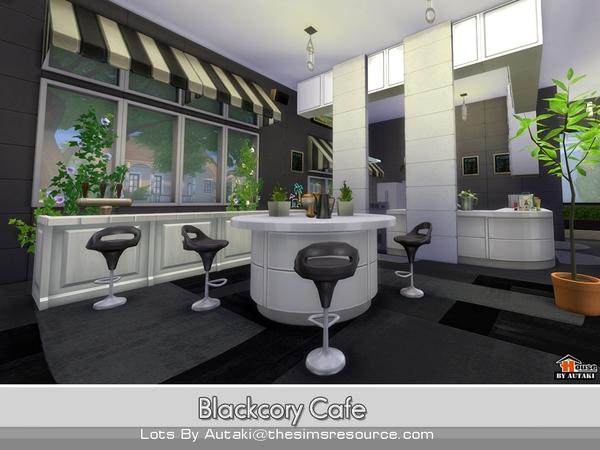 Sims 4 Blackcory Cafe by autaki at TSR