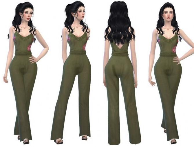 Bohemian Jumpsuit Olive Cute Sims Updates