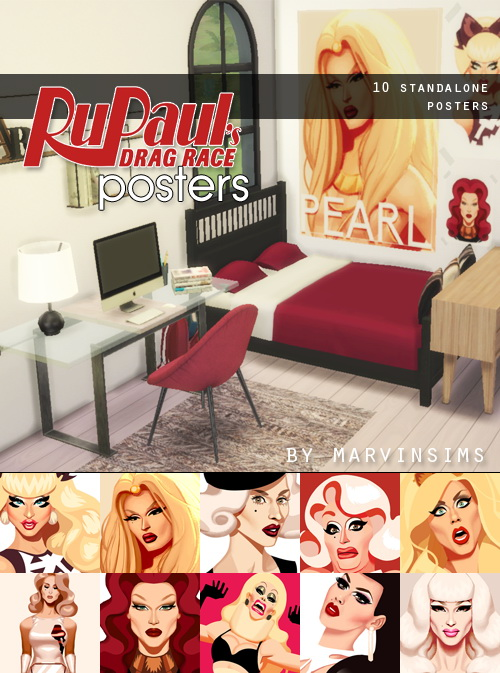 Sims 4 RuPaul's Drag Race Posters at Marvin Sims