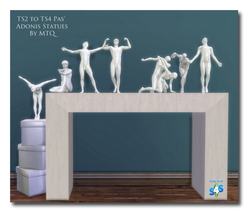 Sims 4 TS2 To TS4 PAS Adonis Statues at Msteaqueen
