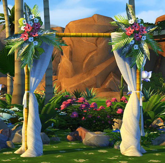 fully functional wedding arches at soloriya sims 4 updates