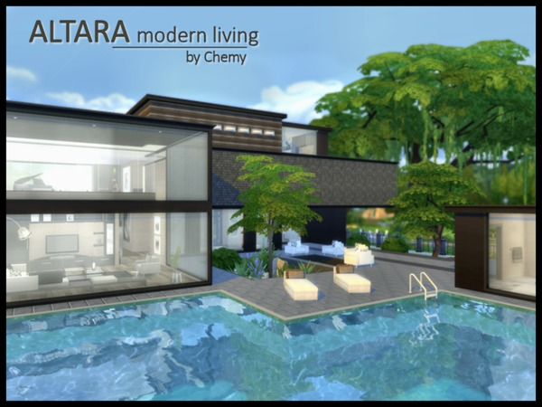 ALTARA modern living by Chemy at TSR image 1180 Sims 4 Updates