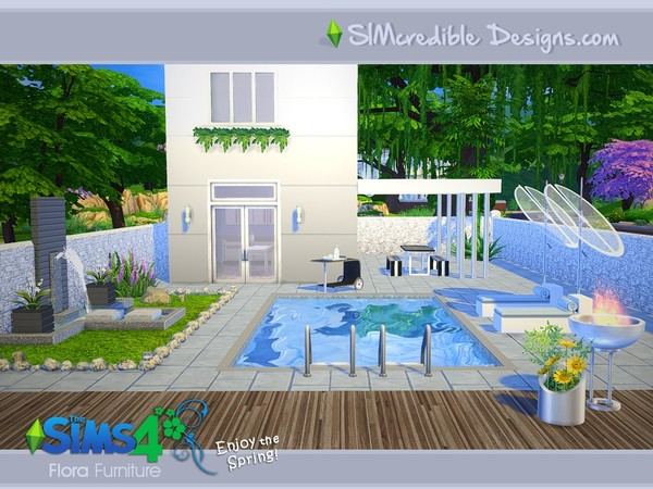 Flora outdoor furniture by SIMcredible! at TSR image 12109 Sims 4 Updates