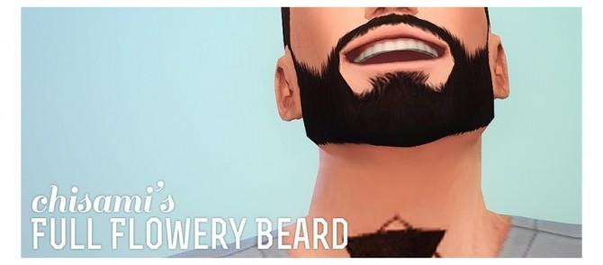 Sims 4 Full Flowery Beard at Chisami