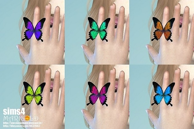 Sims 4 Butterfly ring & cas pose at Marigold
