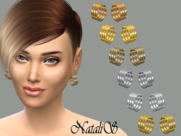 Sims 4 Stacks earrings by NataliS at TSR