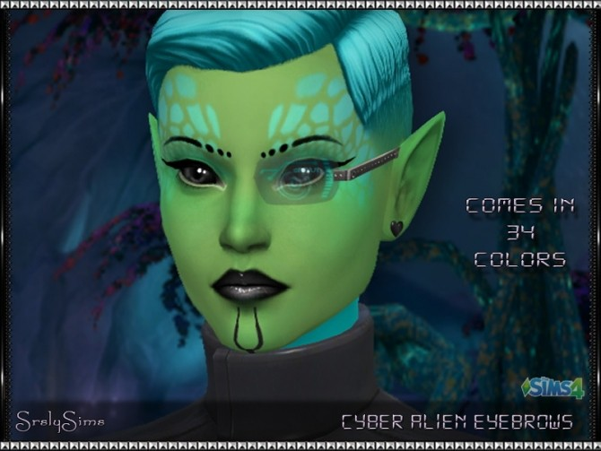Cyber Alien Eyebrows At Srslysims 187 Sims 4 Updates