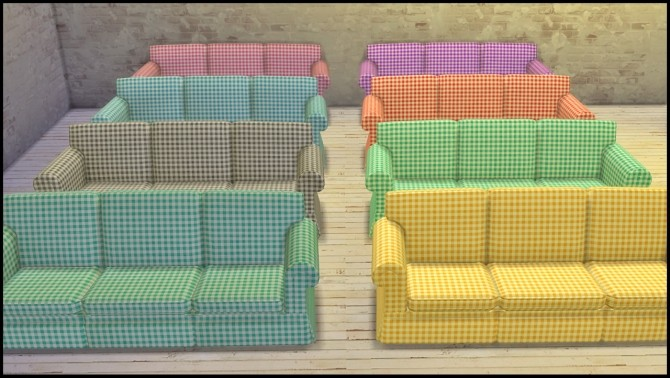 Hipster Sofa In 8 Gingham Colors At Tacha 75