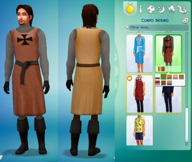 Medieval Warrior outfit at My Stuff image 12511 670x568 Sims 4 Updates