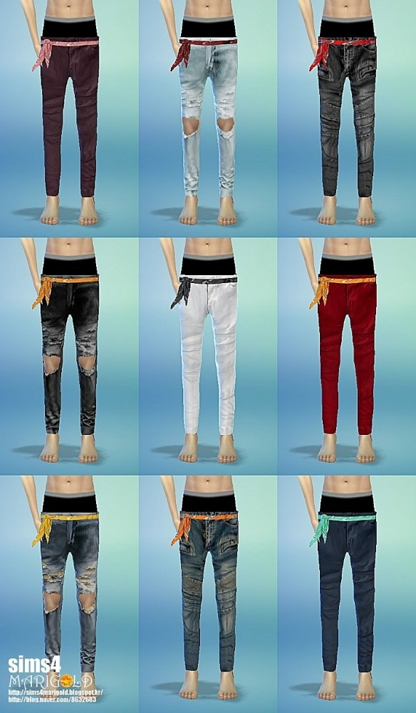 Scarf belt & sagging pants at Marigold image 12621 584x1000 Sims 4 Updates