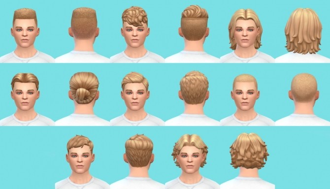 Sims 4 Get to Work male hairs base game at Pickypikachu
