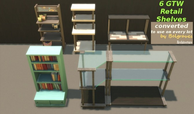 Sims 4 6 Get to Work Retail Shelves at Leander Belgraves