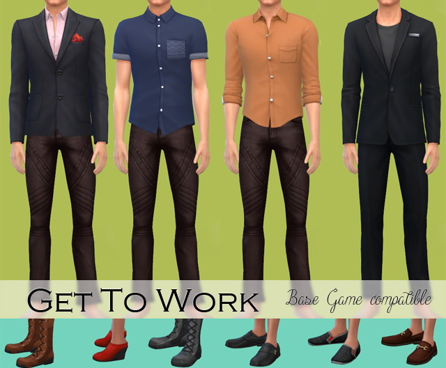 Sims 4 GTW Clothes & Shoes base game compatible at Jenni Sims
