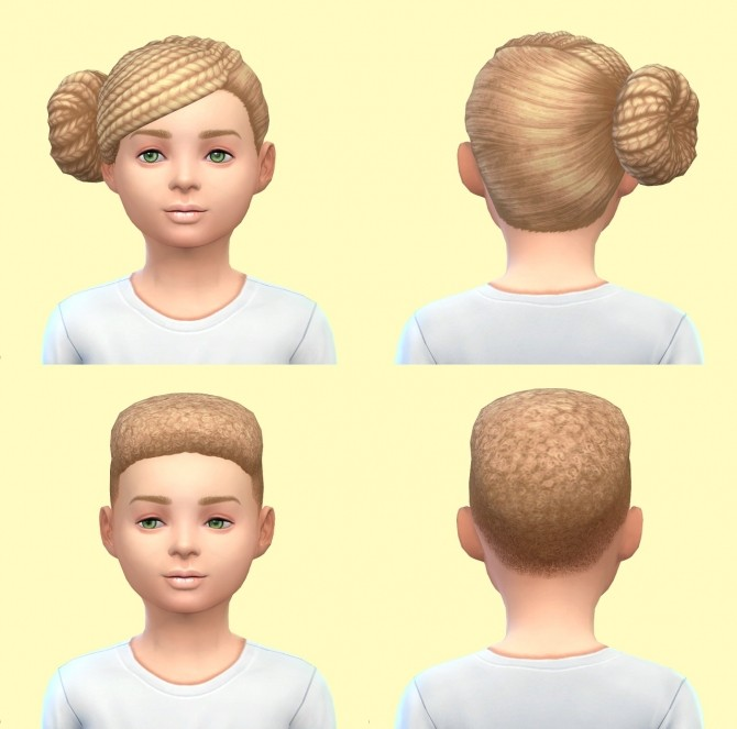 Sims 4 Get to Work child hairs base game at Pickypikachu