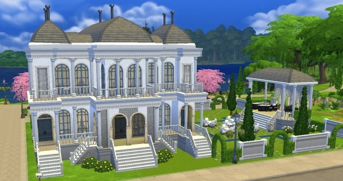 Sims 4 Municipal Muses Museum Lot by Bunny m at Mod The Sims