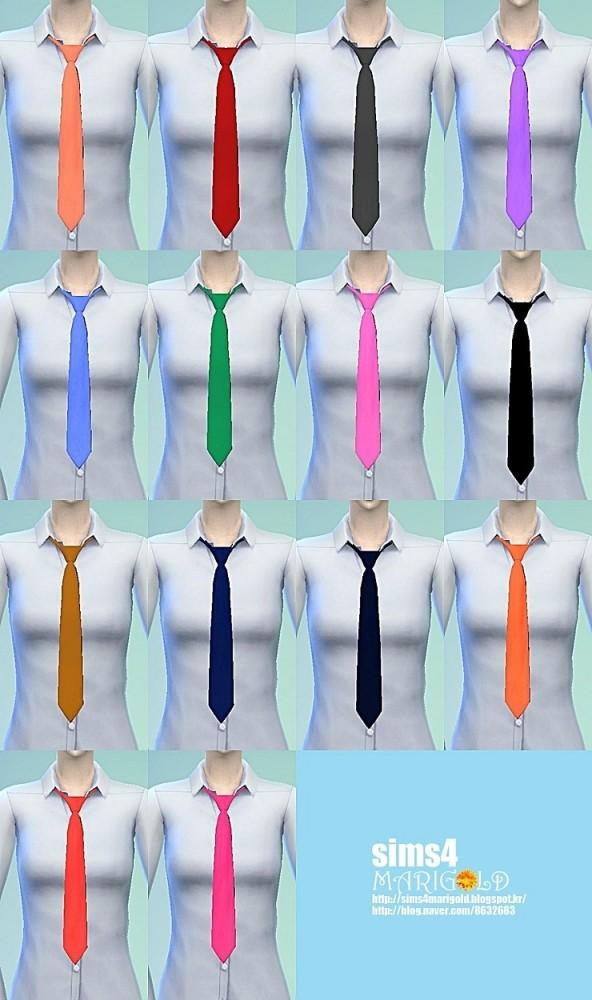 Female necktie tight version at Marigold image 12812 592x1000 Sims 4 Updates