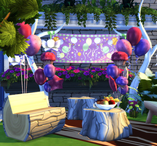 Party Decor Ts3 To Ts4 Conversion At Soloriya 187 Sims 4 Updates