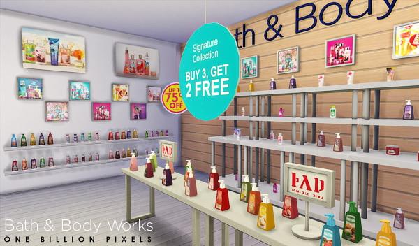 Sims 4 Bath & Body Works Shop & Set V2 at One Billion Pixels