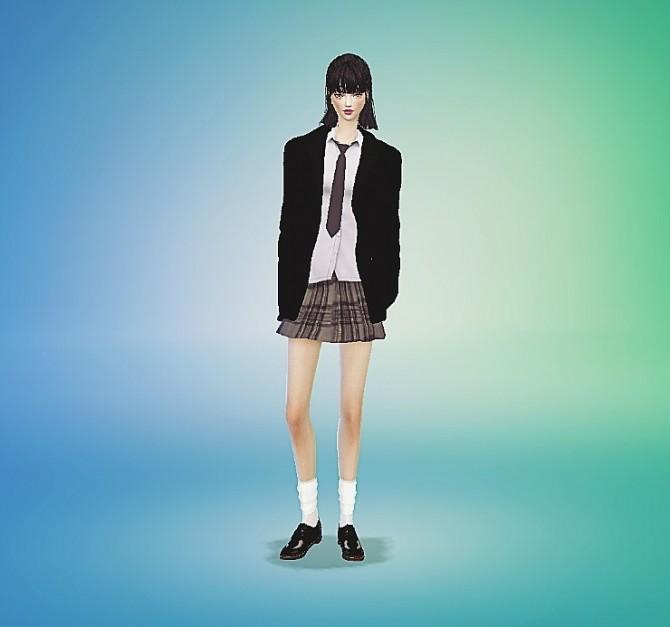 Female necktie tight version at Marigold image 12912 670x627 Sims 4 Updates