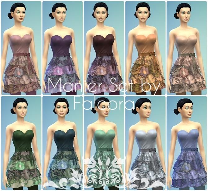 manier set 10x f dresses at petka falcora sims 4 updates. Black Bedroom Furniture Sets. Home Design Ideas