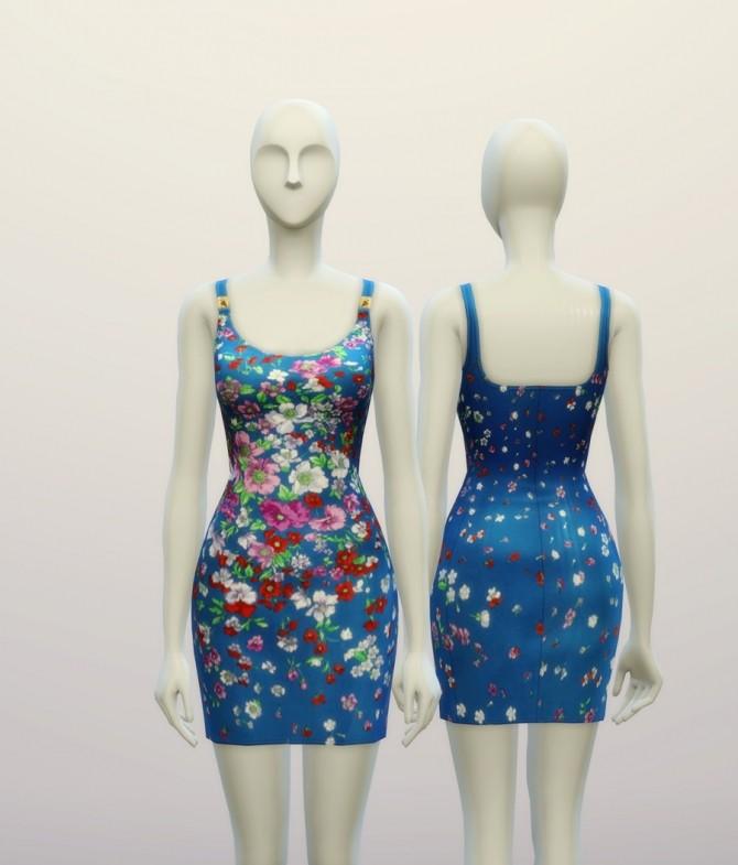 Sims 4 Floral designer dress at Rusty Nail