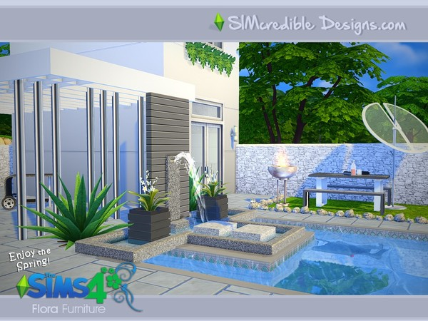 Flora outdoor furniture by SIMcredible! at TSR image 13108 Sims 4 Updates