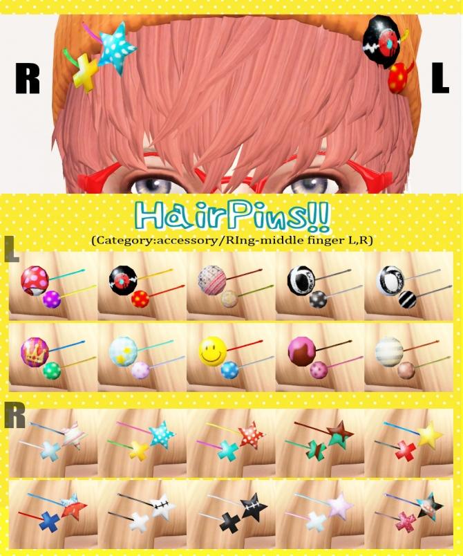 Hair Pins L And R Sets At Imadako 187 Sims 4 Updates