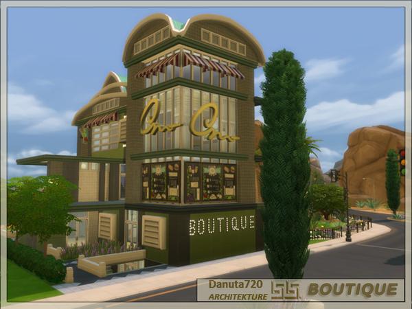 Sims 4 BOUTIQUE lot by Danuta720 at TSR
