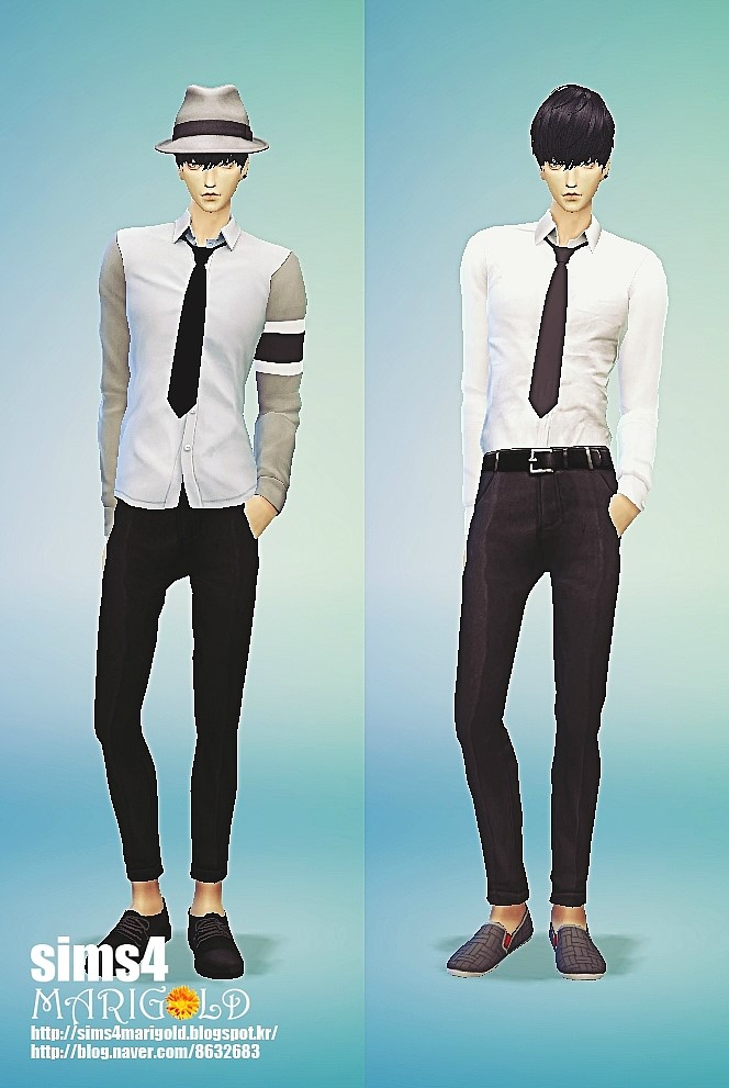 Male necktie tight version at Marigold image 13311 Sims 4 Updates