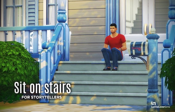 Sit on stairs mod at LumiaLover Sims image 13313 670x429 Sims 4 Updates