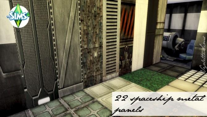 Sims 4 22 walls Spaceship styles at Mandarina's Sim World