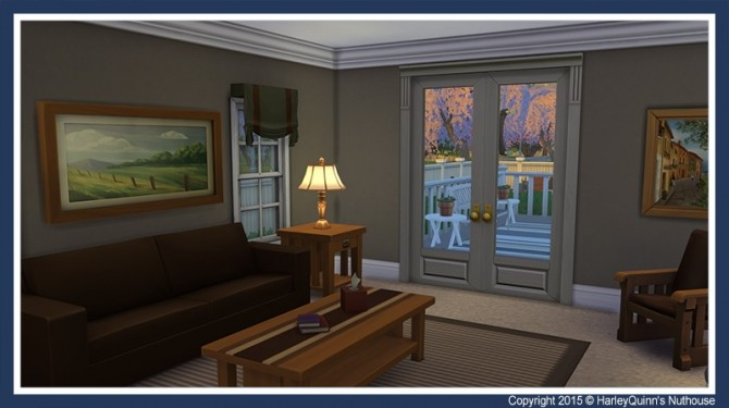 Sims 4 Maison Pierre house at Harley Quinn's Nuthouse