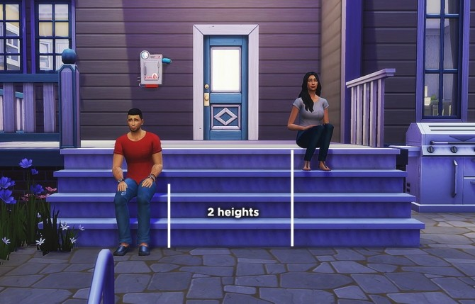 Sit on stairs mod at LumiaLover Sims image 13614 670x429 Sims 4 Updates