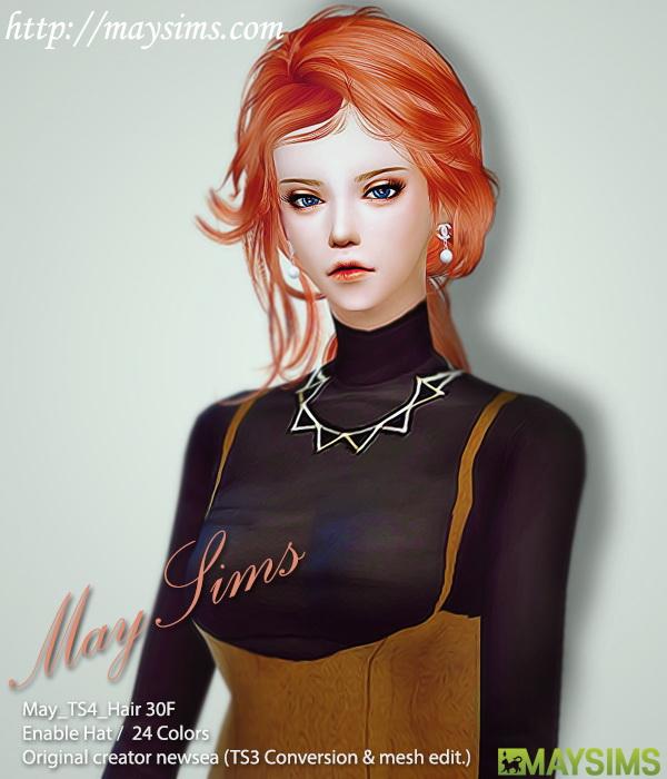 Sims 4 Hair 30F retexture (Newsea) at May Sims