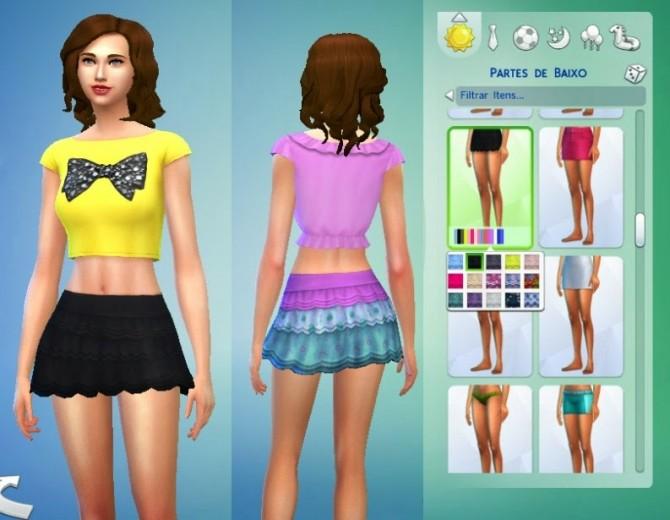 Sims 4 Renewed Skirt by Kiara at My Stuff