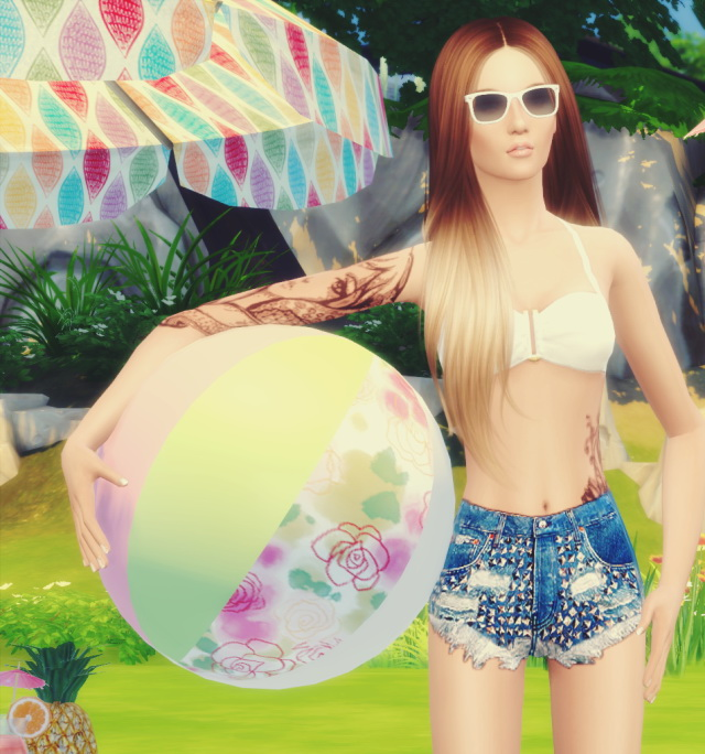 Sims 4 Beach Ball Pose by Dreacia at My Fabulous Sims