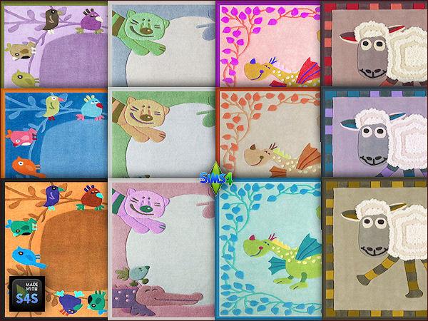 Sims 4 4 baby rugs by Mabra at Arte Della Vita