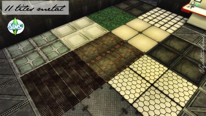 Sims 4 11 tiles metal Spaceship styles at Mandarina's Sim World