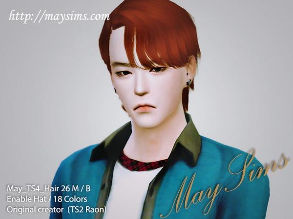 Sims 4 Hair 26M/B (TS2 Raonjena) at May Sims