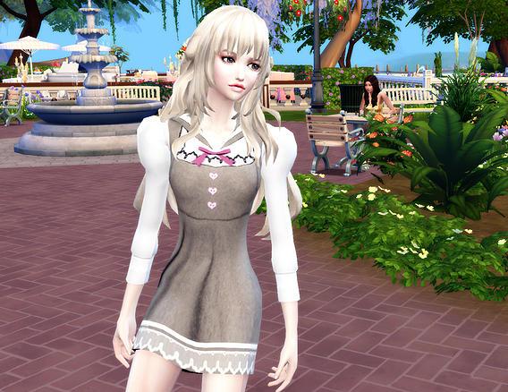 Maid dress Miya Retexture at Studio K Creation image 14313 Sims 4 Updates