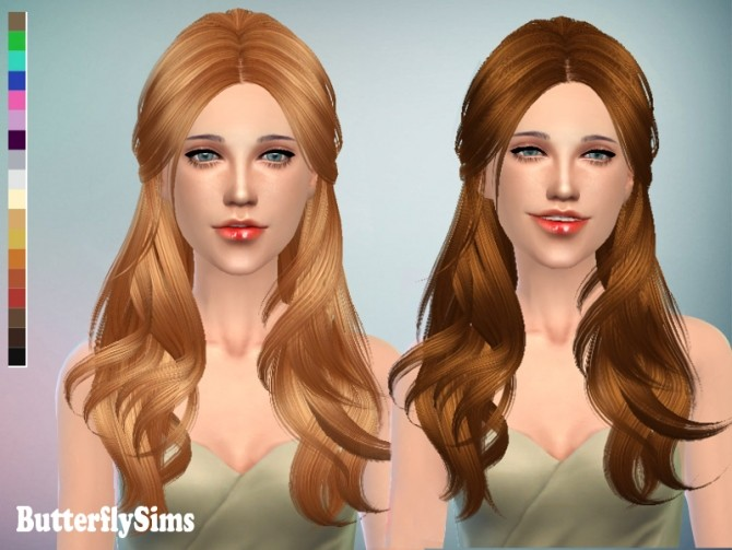 Sims 4 Hair 091 (Pay) by YOYO at Butterfly Sims