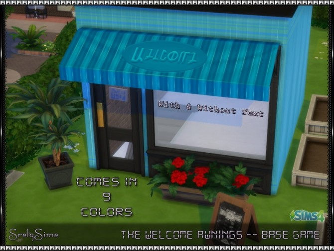 Get to Work Striped Fun Fun Awnings 9 retextures at SrslySims image 1471 670x503 Sims 4 Updates
