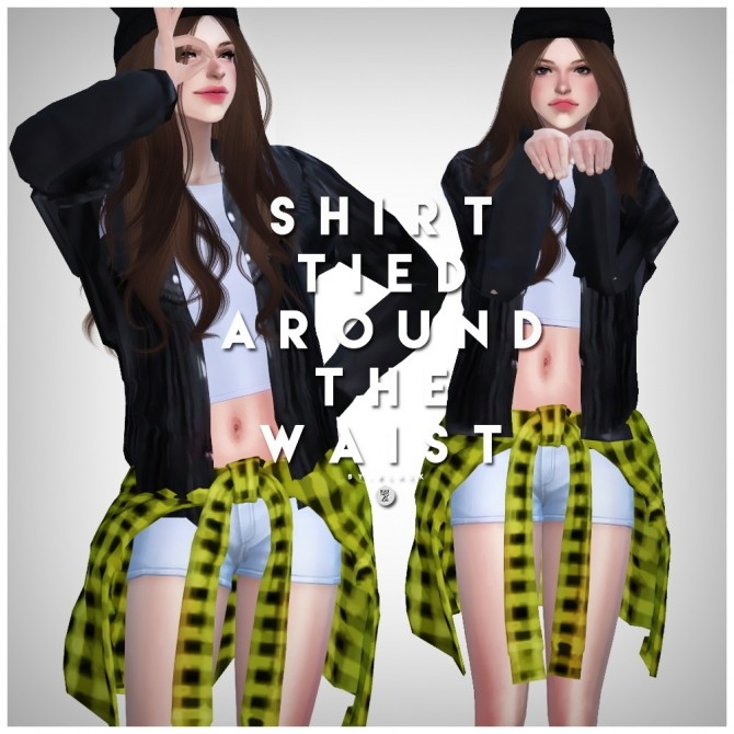 Shirt tied around the waist ACC at Black le image 14712 670x670 Sims 4 Updates