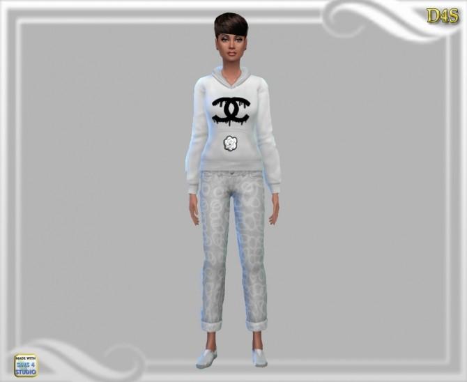 Sims 4 Hoodie redo at Dreaming 4 Sims